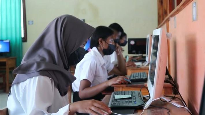 Demi Tingkatkan Mutu Pendidikan, SMK-PP Negeri Kupang Gelar Asesmen Nasional Berbasis Komputer